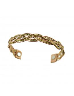 Bracelet 2 cuivres avec aimant à chaque extrémité