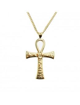 Pendentif en plaqué or Croix de vie - Croix d'Ankh - Croix ansée