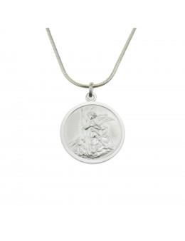 Médaille Saint Michel - argent 925 - 22 mm