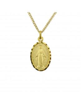Médaille Vierge Miraculeuse en plaqué or