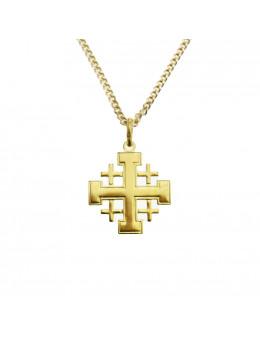 Pendentif plaqué or Croix de Jérusalem