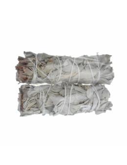 Lot de fagot de feuilles naturelles séchées de sauge blanche amérindienne 11cm 20 g / 12 cm 30 g /18 cm