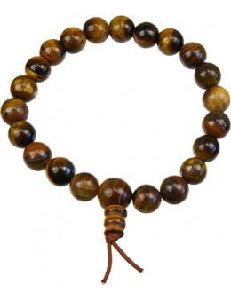 Bracelet mala tibétain Oeil de Tigre