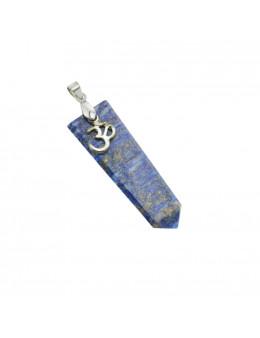 Pendentif pierre et métal - Symbole Ohm