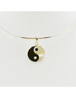 Pendentif rond Yin-yang en nacre
