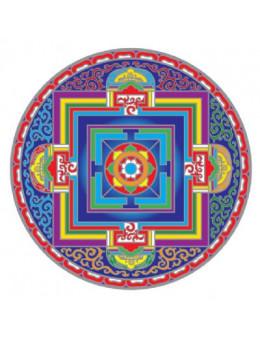Symbole autocollant pour vitre - Mandala Vajra