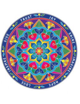 Symbole autocollant pour vitre - Mandala Inspiration