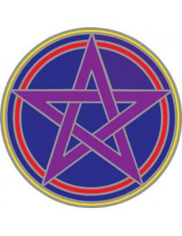 Symbole autocollant pour vitre - Pentacle mystique