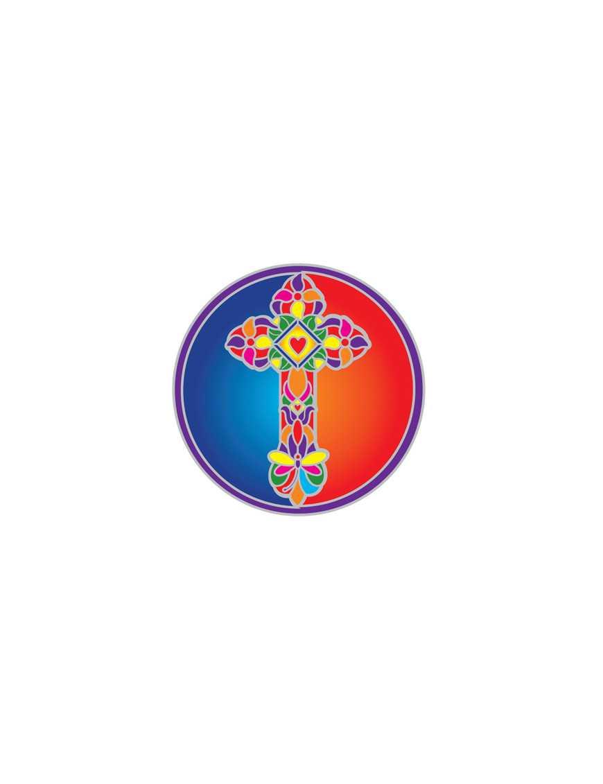 Symbole autocollant pour vitre - Croix