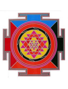 Symbole autocollant pour vitre - Sri Yantra