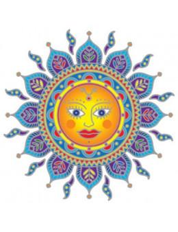 Symbole autocollant pour vitre - Mandala Soleil