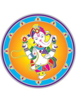 Symbole autocollant pour vitre - Ganesha dansant