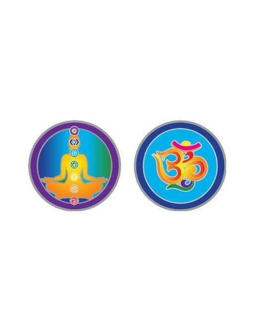 Symbole autocollant pour vitre - Chakras et Ohm