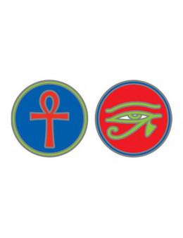 Symbole autocollant pour vitre - Croix d'Ankh et Oeil d'Horus