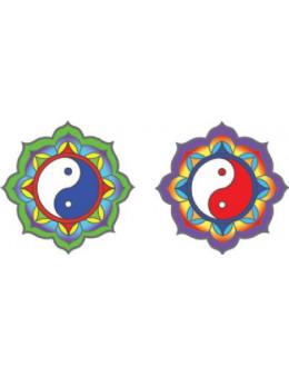 Symbole autocollant pour vitre - Yin Yang
