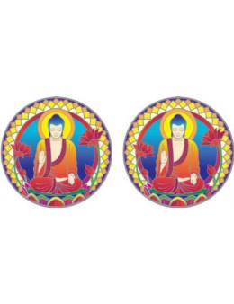 Symbole autocollant pour vitre - Bouddha nature