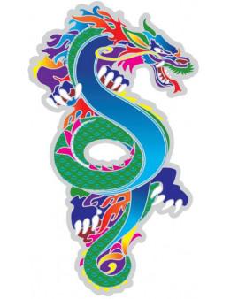 Symbole autocollant pour vitre - Dragon