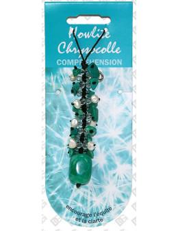 Bijou coeur pierre de vertu Chrysocolle