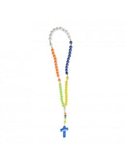Chapelet corde et perles colorées