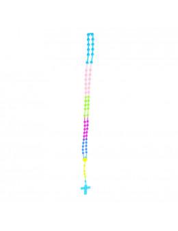 Chapelet enfant, multicolore, en silicone