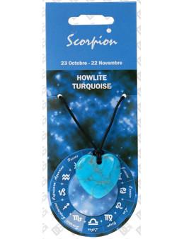 Pendentif coeur Zodiac Turquoise