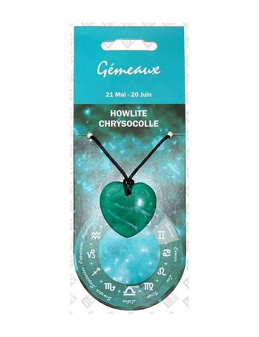Pendentif coeur Zodiac Chrysocolle