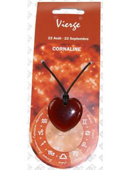 Pendentif coeur Zodiac Cornaline