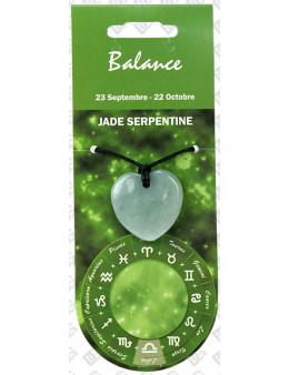 Pendentif coeur Zodiac Jade