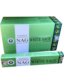 Encens Golden - Nag Masala White Sage - Sauge Blanche - 15g