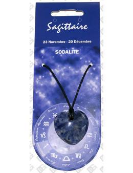 Pendentif coeur Zodiac Sodalite
