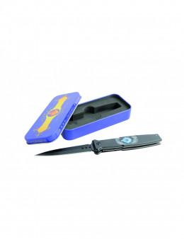 Coffret Couteau maçonnique noir pliable - clip ceinture