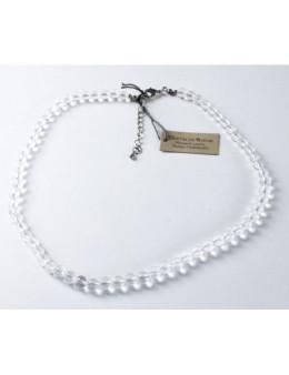 Collier perles rondes - Cristal de roche - 8 mm