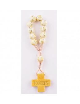 Dizainier corde avec perles bois