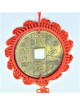 Grande pièce chinoise métal : protection, chance et bonheur