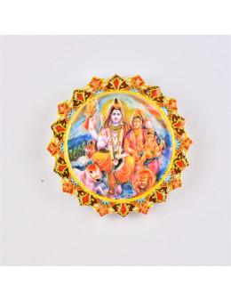 Magnet Résine - Famille Shiva Parvati Ganesh