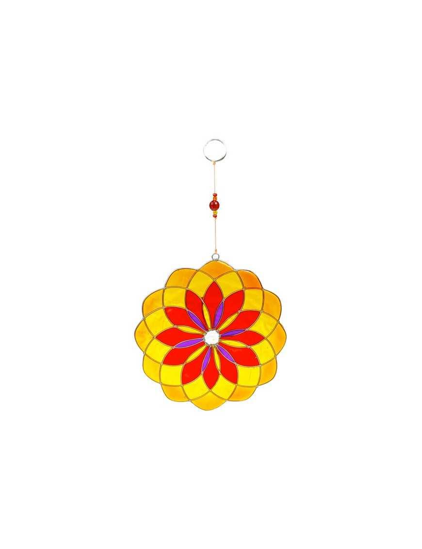 Attrape Soleil - Mandala Rouge/Jaune/Orange
