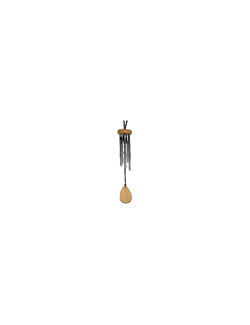 Carillon 5 tubes - Argenté