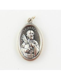 Médaille en métal argenté 2,5 cm