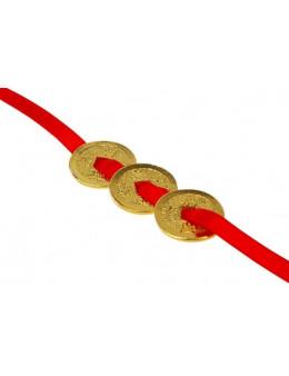 3 Monnaies Feng-Shui - Dorées or fin