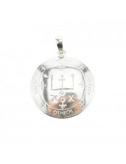 Pendentif médaille Archange Raphael - argent 925 - 3 cm