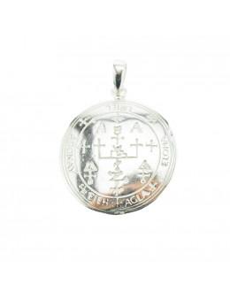 Pendentif médaille Archange Uriel - argent 925 - 3 cm