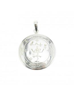 Pendentif médaille Archange Michael / Saint Michel - argent 925 - 3 cm