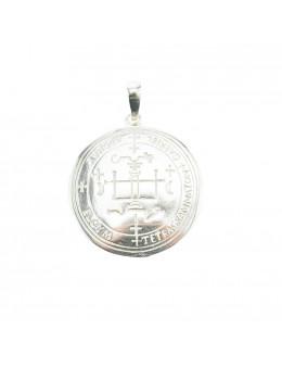 Pendentif médaille Archange Gabriel - argent 925 - 3 cm