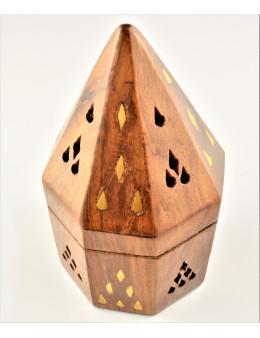 Porte-encens Pyramide octogonale pour cônes - bois