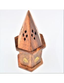 Porte-encens ou brûle-encens pour cônes en bois