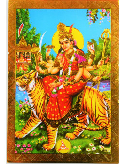 Poster indien 13x9 doré à chaud