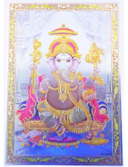 Poster indien sur papier métallique