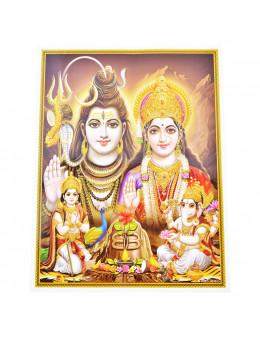 Poster indien A4 papier glacé et reliefs dorés