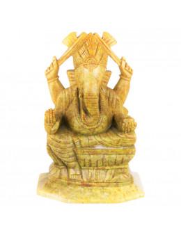 Statuette indienne Ganesha 16cm - marbre