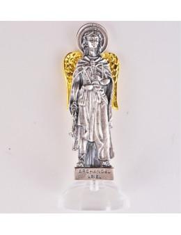 Statuettes Archanges 7,5 cm avec base plexi cristal